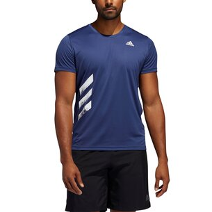 adidas Mens Running Response Run It Pb T Shirt