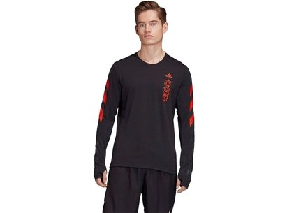 adidas Fast Graphic Long Sleeve T Shirt Mens