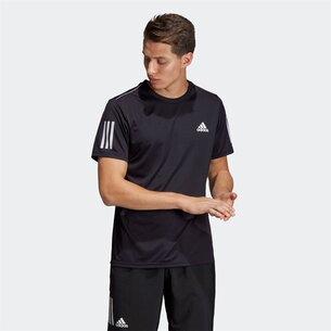 adidas Club 3 Stripe T-Shirt Mens