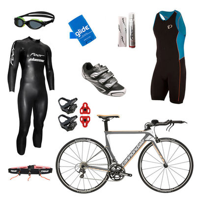 International Only - Cannondale Slice 105 Grey Mens Triathlon Package