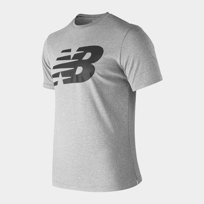 New Balance Logo Graphic QT T Shirt Mens