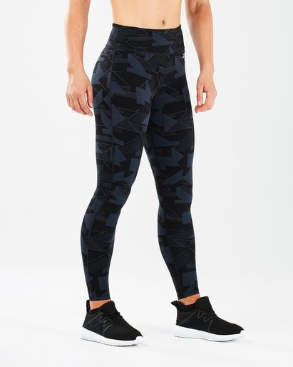 2XU Print Fitness Mid Rise Tights