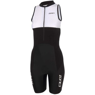 Zone3 Lava Long Distance Womens Full Zip Short Sleeve Tri Suit