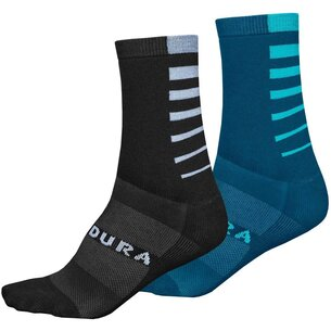 Endura Coolmax Stripe Sock   Twin Pack