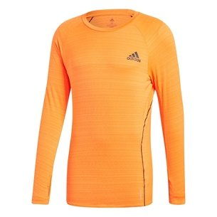 adidas AdiRun Long Sleeve T shirt Mens