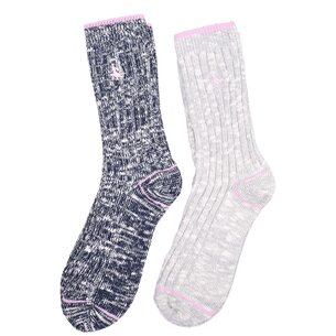Jack Wills Partly Twist Multipack Boot Socks 2 Pack