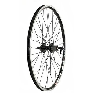 "Raleigh 26"" Rear 6 Bolt Disc QR  Wheel   8 9 Speed Cassette"