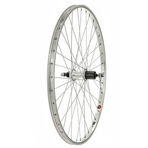 "Raleigh 26"" Rear Rim Brake QR Wheel   8 9 Speed Cassette"