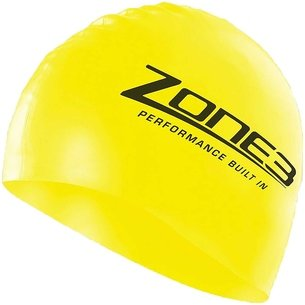 Zone3 Silicone Swim Cap   Hi Vis Yellow