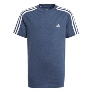 adidas 3 Stripe Essentials T Shirt Junior