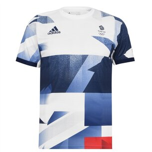 adidas Great Britain Tennis T Shirt Mens