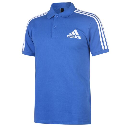 Mens Cotton 3 Stripes Polo Shirt