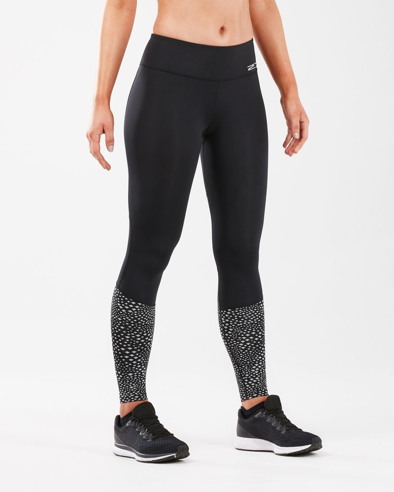 Reflective Run Mid Tight With Back Storage Women's