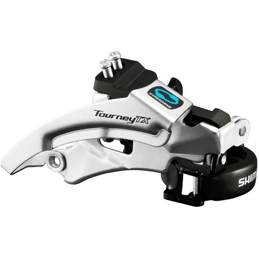 Tourney TX Top Swing Dual Pull Triple 63 66 Degree Front Derailleur