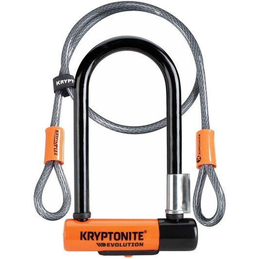 Evolution Mini 7 D Lock with Kryptoflex Cable Sold Secure Gold