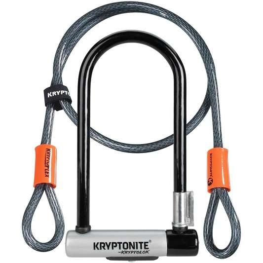 Kryptolok D Lock with Kryptoflex Cable Sold Secure Gold