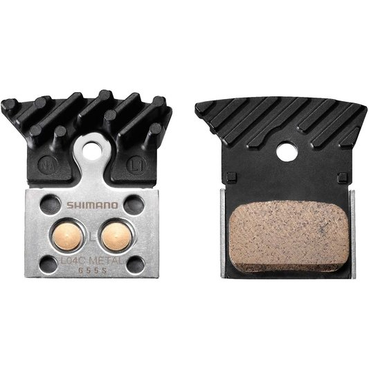 L04C Alloy Backed Metal Sintered Disc Brake Pads With Cooling Fins