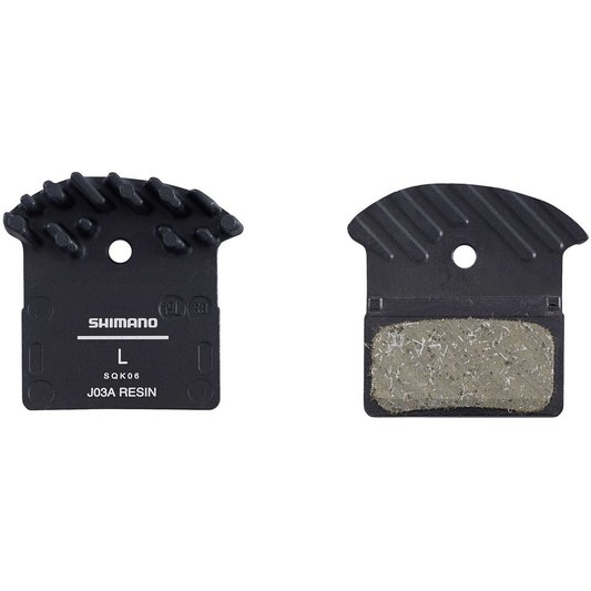 J03A disc brake pads and spring, alloy backed with cooling fins, resin