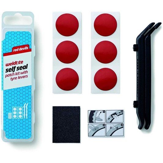 Red Devils Self Seal Patch Kit With Tyre Levers