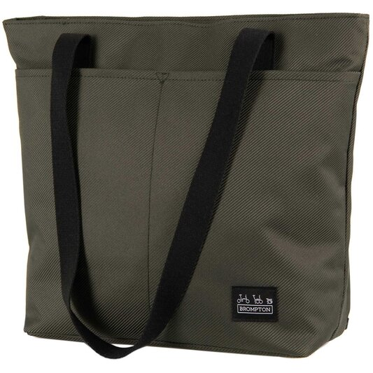 Borough Tote Bag, Small, Olive with frame