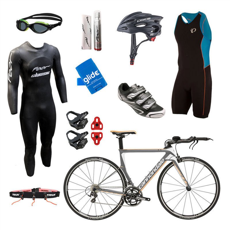 Cannondale Slice 105 Grey Mens Triathlon Package